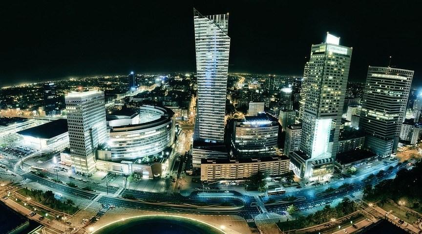 Вид с дворца культуры и науки в Варшаве