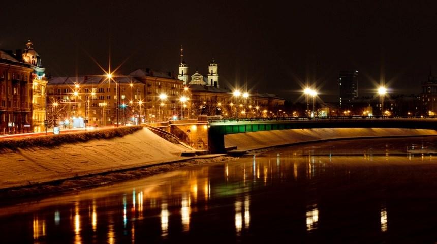 Зеленый мост в Вильнюсе