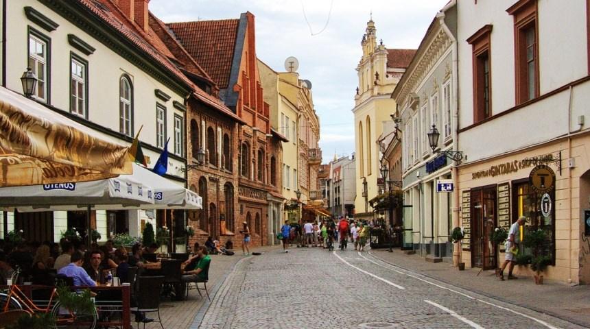 Замковая улица в Вильнюсе