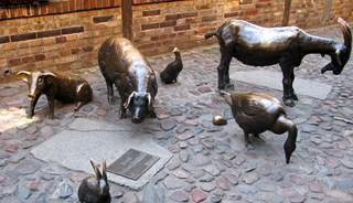 Превью фото о Скульптуре «Животные на забой»