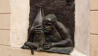 Превью фото о Памятнике пьянице