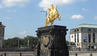Превью фото о Статуе «Золотой всадник»